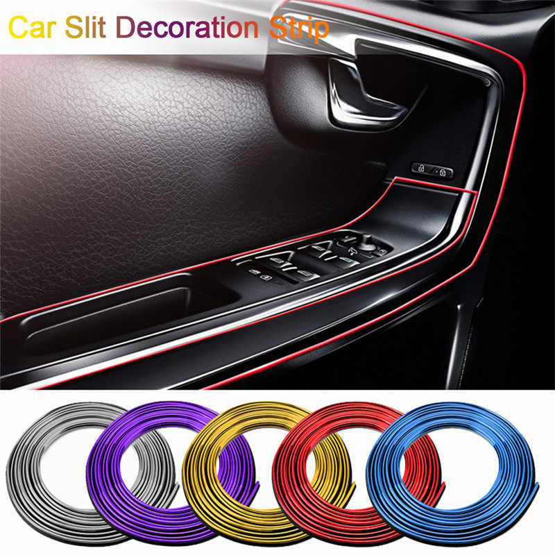 Universal Car Headlight Decoration Strip Moulding Car-styling Accessories 5M Car Cover Trim Dashboard Door Edge Styling Interior
