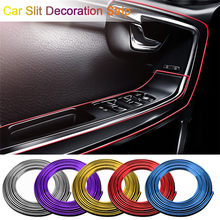 5 M Car Styling Universale FAI DA TE Flessibile Decorazione di Interni Stampaggio Trim Strisce Auto Bordo Della Porta Sticker Di Natale Accessori(China)