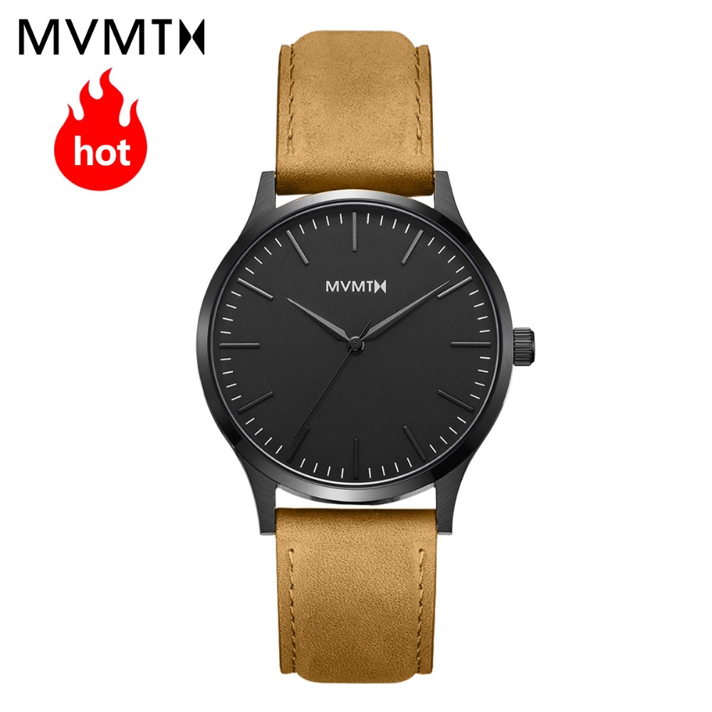 MVMT watch | Genuine fashion simple vintage men's watch with genuine leather watchband / steel watchband waterproof quartz watch цена 2017