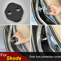 4pcs/set Car Door lock decoration Door lock protective cover Door rust-proof lock cover For Skoda Superb Skoda Yeti Skoda Rapid