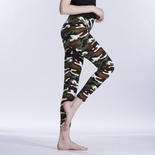 New Fashion 2018 Camouflage Printing Elasticity Leggings Green/Blue/Gray Camouflage Fitness Pant Legins Casual Legging For Women