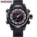 Hot Sale! WEIDE Luxury Famous Brand Men Sport Watches Digital Quartz Dual Movement 3ATM Water Resistant PU Strap Sports Items