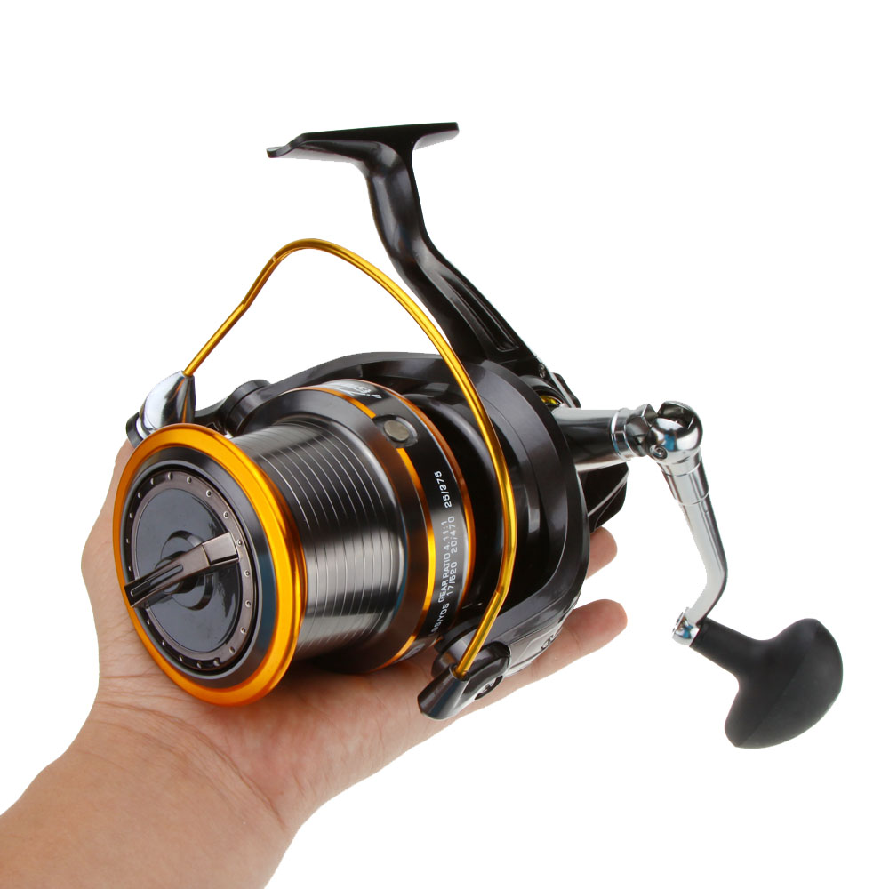 12+1BB 13Ball Bearings Left/Right Interchangeable LJ9000 Super Big Sea Fishing Wheel Metal Spinning Reel High Speed 4.11:1(China)