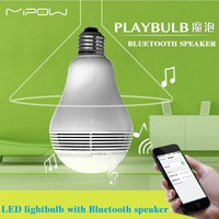 MIPOW PLAYBULB Smart LED Blub Light Wireless Bluetooth Speaker 110V 240V E27 3W Lamp Audio For