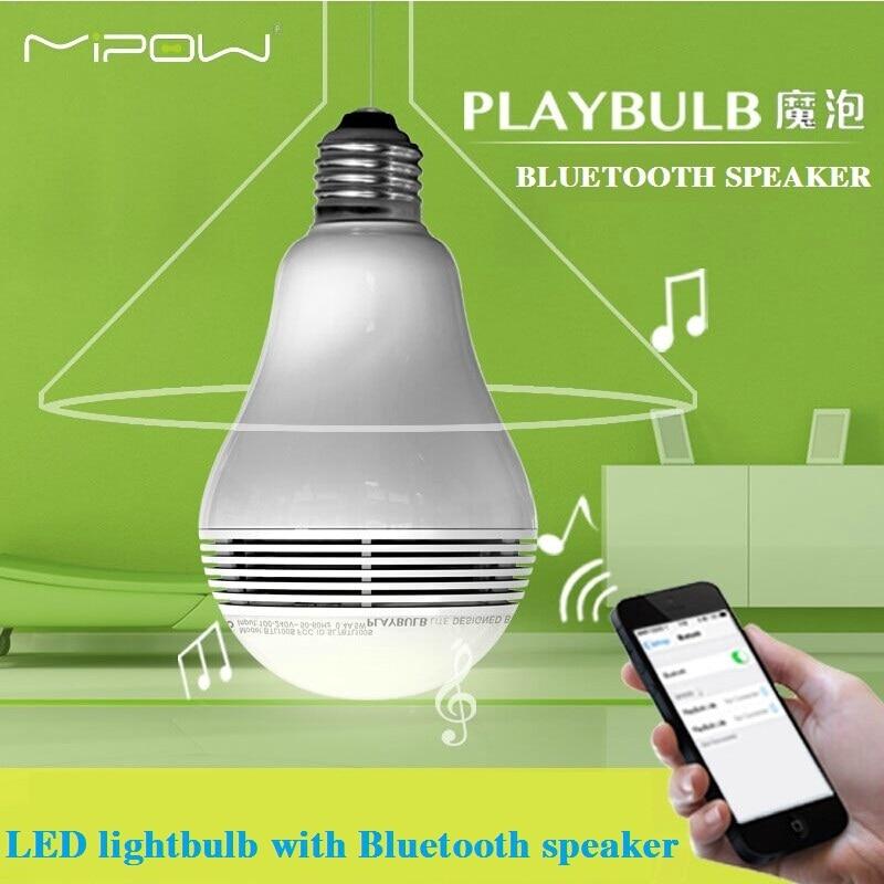 MIPOW PLAYBULB Inteligentní LED Blub Light bezdrátový Bluetooth reproduktor 110V - 240V E27 3W lampa audio pro iPhone 5S 5C 5 iPad vzduch
