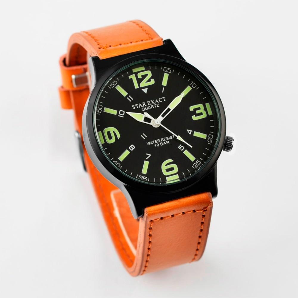 de3aa89e2c58 Moda reloj luminoso hombres reloj correa de cuero reloj de los hombres del deporte  relojes reloj Erkek Kol saati Relogio masculino SAAT