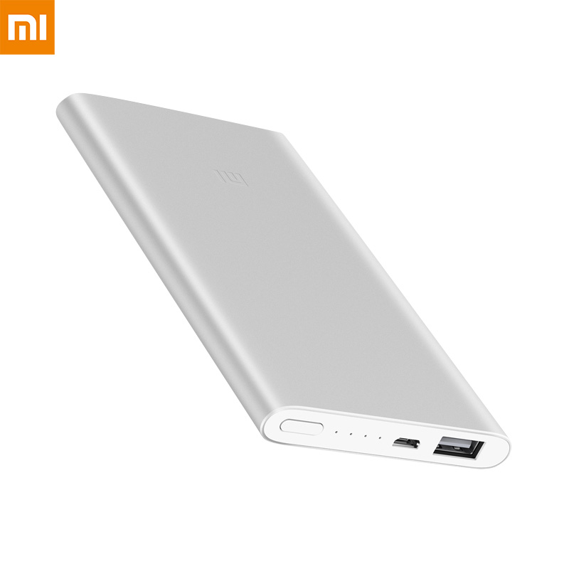 Xiaomi Mi <font><b>Power</b></font> <font><b>Bank</b></font> 2 <font><b>5000mAh</b></font> Portable Charger Alloy Metal Ultra Thin Powerbank Charge for iPhone Huawei Samsung Mobile Phones image