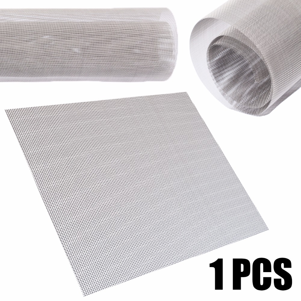 1pc 60 Mesh Woven Wire Cloth Screen Filtration 304 Stainless Steel 30x30cm With High Temperature Resistance
