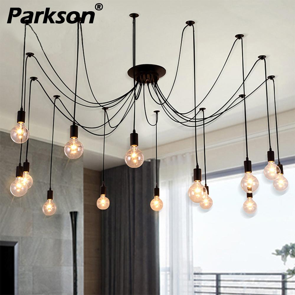 Mordern Nordic Retro Edison Bulb Pendant Lights Vintage Loft Antique Adjustable DIY E27 Art Spider Ceiling Lamp Fixture LightMordern Nordic Retro Edison Bulb Pendant Lights Vintage Loft Antique Adjustable DIY E27 Art Spider Ceiling Lamp Fixture Light
