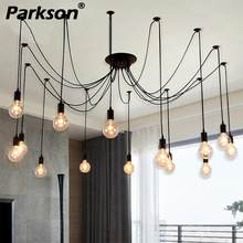 Mordern Nordic Retro Edison Bulb Pendant Lights Vintage Loft Antique Adjustable DIY E27 Art Spider Ceiling Lamp Fixture Light(China)