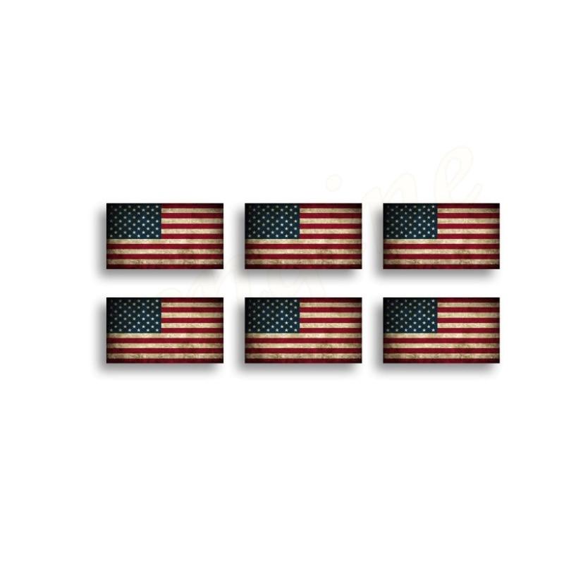 KüHn 6 Mini Usa Rustikalen Flagge Aufkleber Aufkleber Auto Tag Tasse Telefon Laptop Amerikanischen Helm Hd MöChten Sie Einheimische Chinesische Produkte Kaufen?
