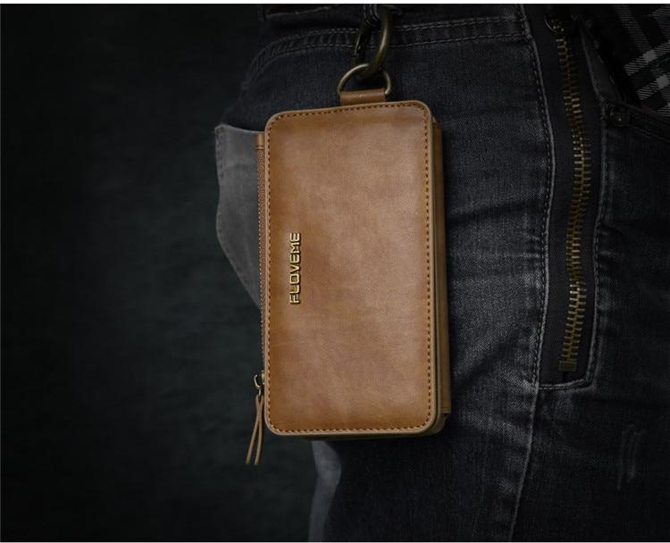 HTB1okEvjMKTBuNkSne1q6yJoXXaN FLOVEME Luxury Retro Wallet Phone Case For iPhone 7 7 Plus XS MAX XR Leather Handbag Bag Cover for iPhone X 7 8 6s 5S Case shell
