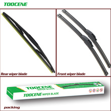 цена на Front & Rear Wiper Blades For Nissan Note 2006-2016 High Quality Rubber Window Windscreen Windshield Car Accessories