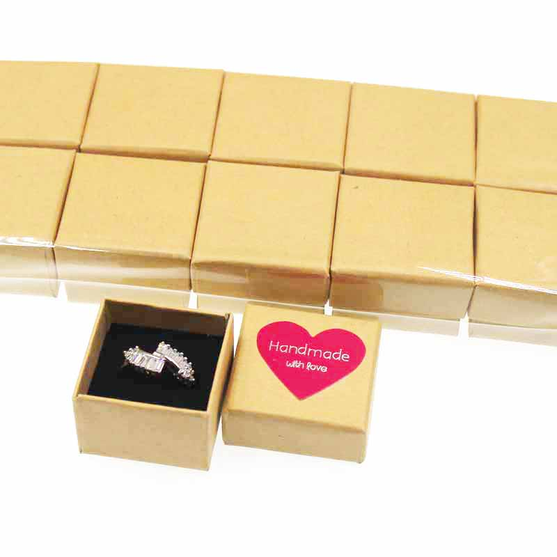 Lovely cute cardboard ring display package box jewelry gift box