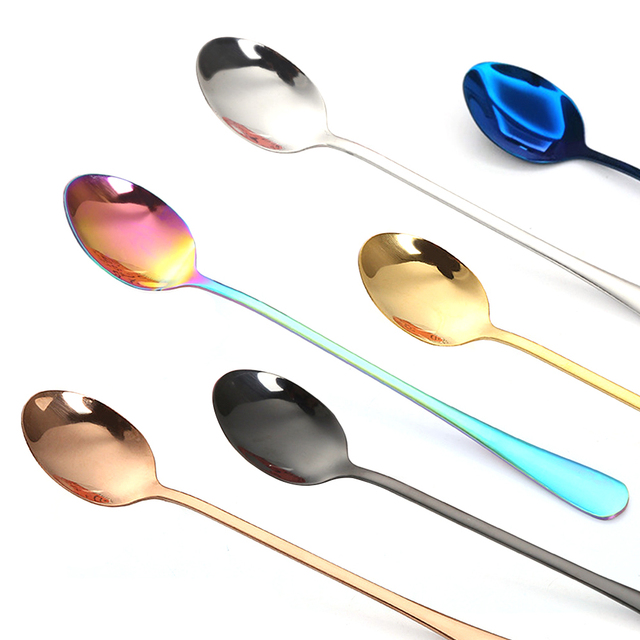 Long-Handled Сoffee Spoon. New Vacuum Coating.