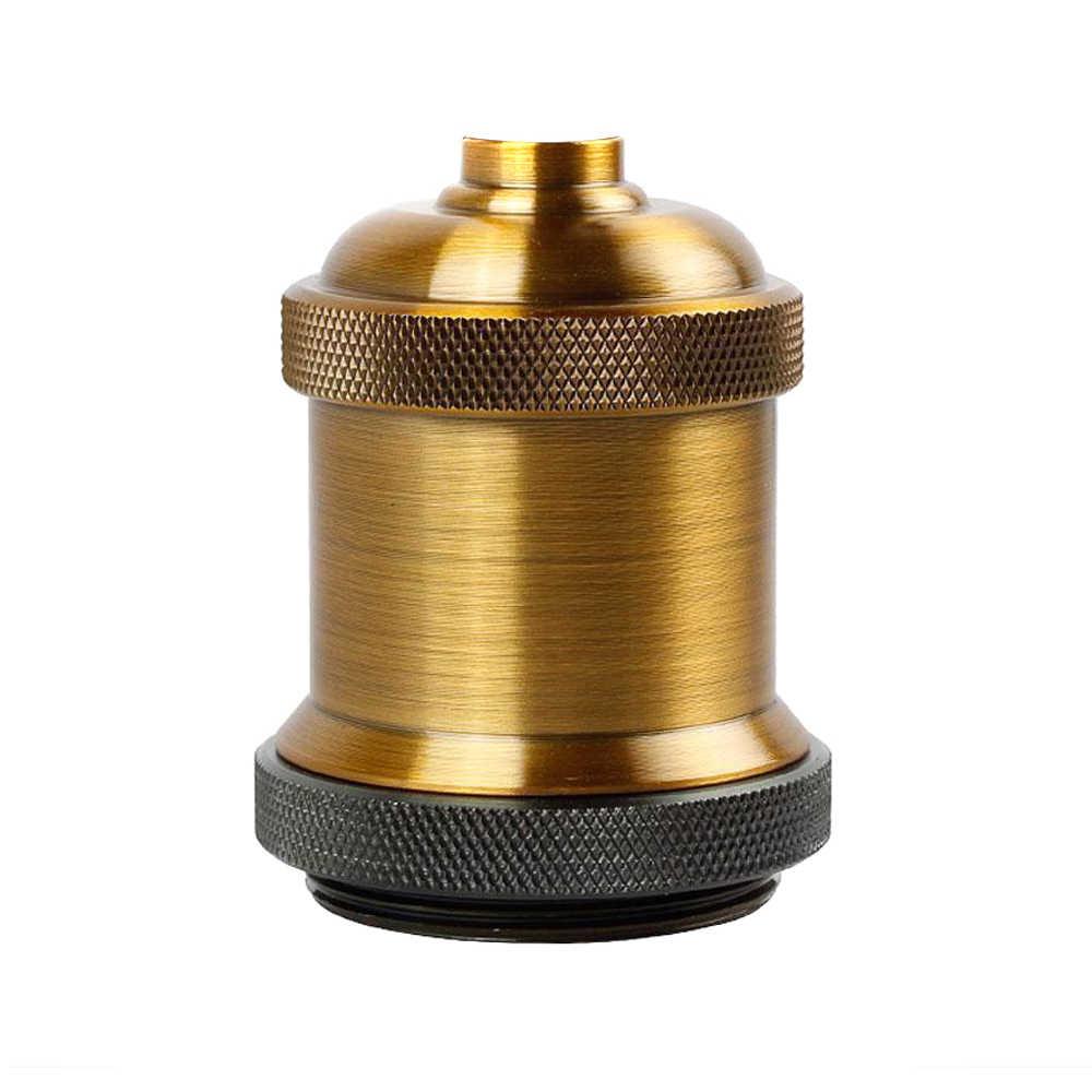 1 Pcs Vintage Edison Lamp Socket Pendant Light E27 Screw Bulb Base Aluminum Light Socket JA55