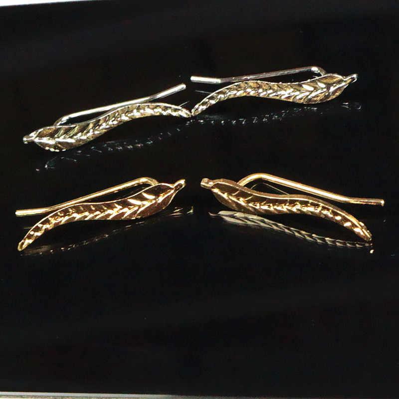Aretes prawdziwe kolczyki 2020 sprzedaż bezpośrednia gorąca sprzedaż Brinco Tassel kolczyki europa i styl metalowe liście klips do ucha transgraniczny