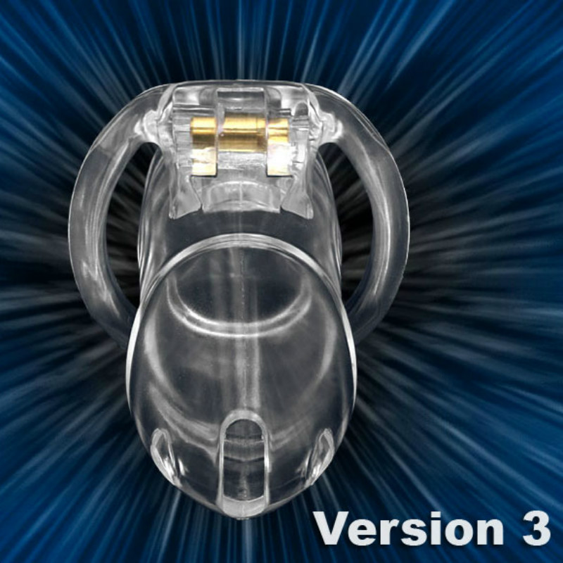 Other Sexual Wellness Hearty V3 Model Medical Grade Clear Bio-sourced Resin Chastity Device Cage Bondage Complete In Specifications Health Care