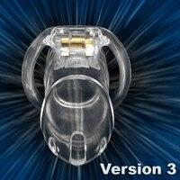 Clear Small Male Chastity Belt Chastity Device Keuschheitsgurtel Holy Trainer V3 , Male Chastity Cage Device Bondage Fetish