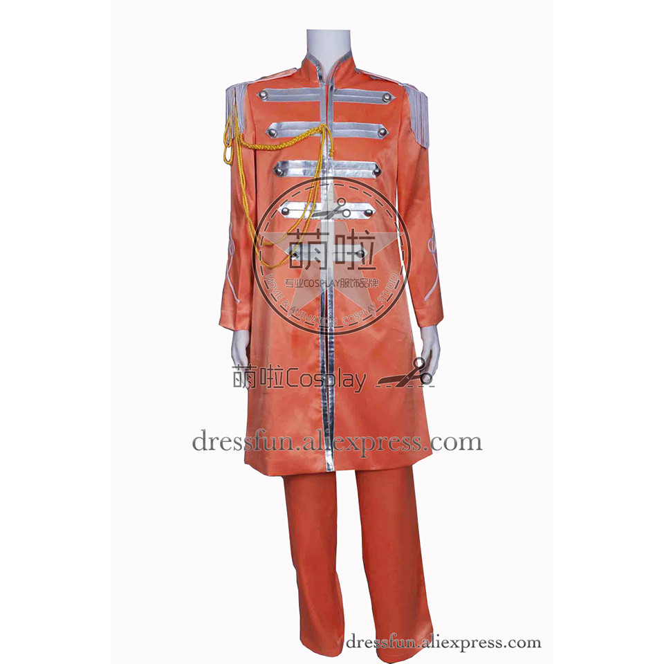 The Beatles Cosplay Sgt Pepper's Lonely Hearts Club Band George Harrison Costume Outfits Halloween Fashion Party Fast Shipping