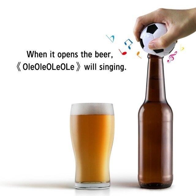 Football Team Gift Electric Music Football Bottle Opener Football Fan Best Beer Bottle Opener With Custom Sound