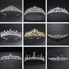 hot deal buy classic rhinestone alloy princess tiaras and crowns wedding hair jewelry accessories headpieces bridal head ornaments for bride