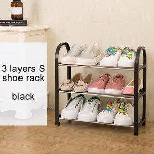 Image 3 - Современный модный органайзер для домашней обуви, простой шкаф для обуви, свободная сборка, складная мебель, универсальная полка для обуви