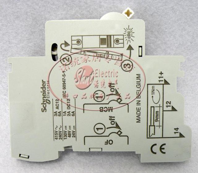 Origin Schneider Belgium Miniature Circuit Breaker Auxiliary