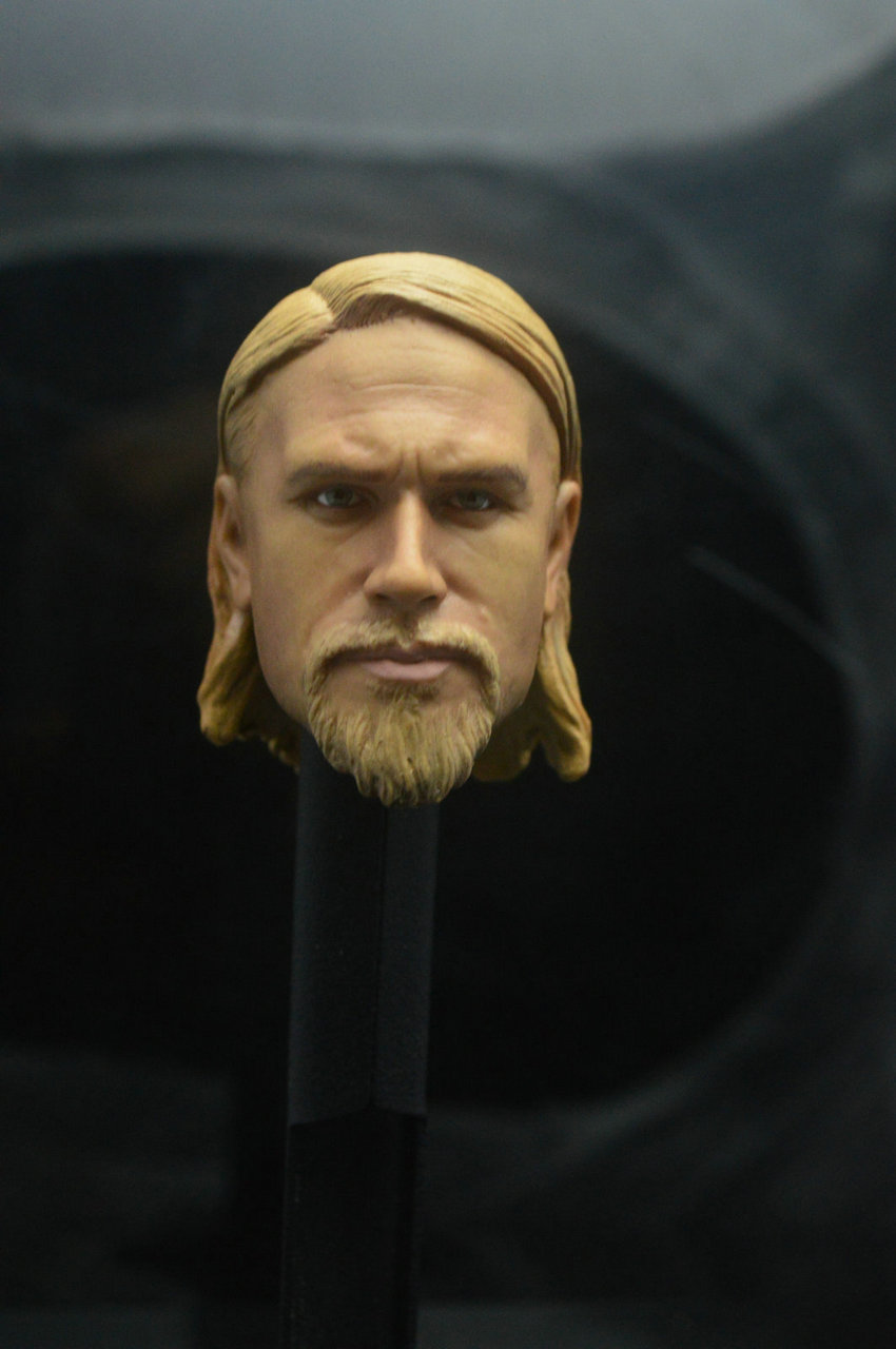 Sons of Anarchy Jax Teller Charlie Hunnam Head Sculpt 1//6 Fit 12/'/' Action Figure