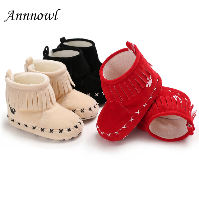 Winter Warm First Shoes for Baby Boots Toddler Boy Booty Infant Booties Girl Footwear Cute Fringe Moccs Party Newborn Dress shoe