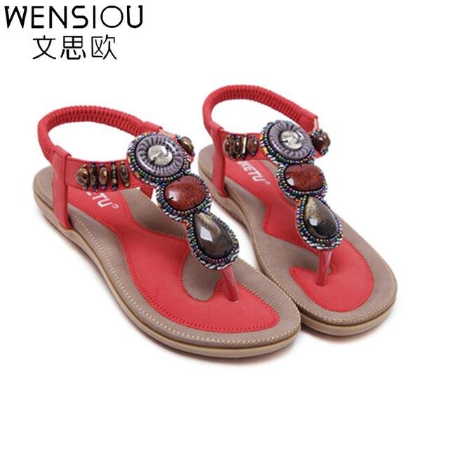 2017 new summer women sandals fashion woman flip flop sandal bohemian style female casual wild flat with beach shoes ATT01