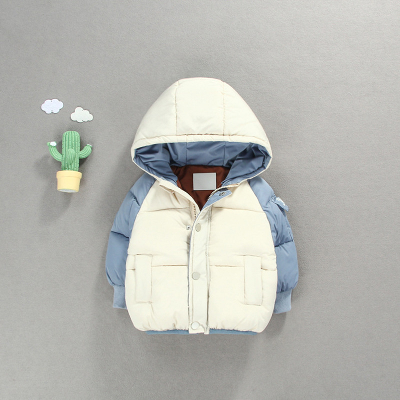 цена на 2018 New Rushed Boy From The South Korean Qiu Dong With Thickening Cotton-padded Jacket 0-4 Years Old Bumped Color Cotton Bread