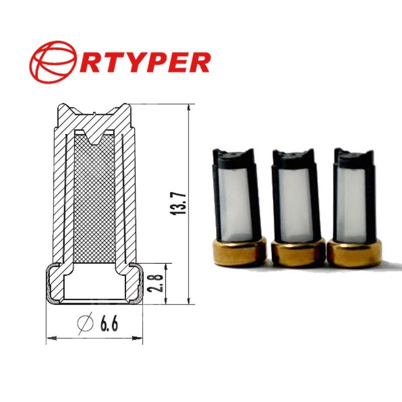 50pcs Fuel Injector Micro Basket Filter Fit for Ford Car Marelli Weber ASNU04C