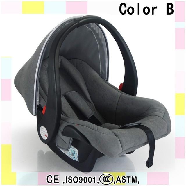 2016 venda quente 3 pontos cinto de segurança recém-nascido cesta carro confortável bebê portátil assento de carro instalação virada para trás mais seguro