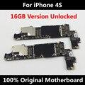 16 gb mainboard para iphone 4s 100% desbloqueado versão oficial original placa lógica motherboard bom trabalho com fichas completas