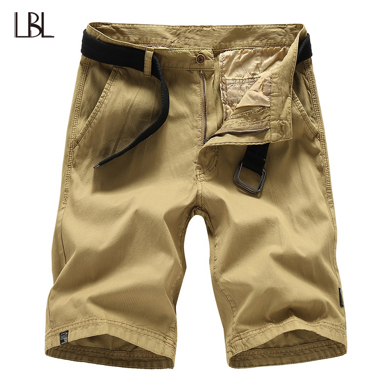 LBL Summer Solid Casual Shorts Men Streetwear Mens Short Trousers Fitness Clothing Plus Size Zipper Fly Bottom moletom masculino