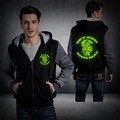 2016 The Son of Anarchy Hoodie Thicken Fleece Coat TV serise Luminous Mens Zipper Hoodie Game Sweatshirts