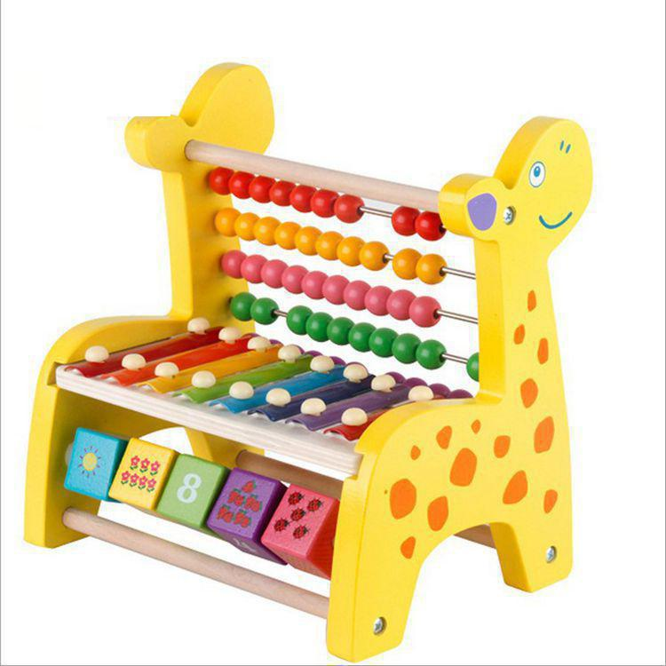 Boulier chinois en bois Montessori jouets Montessori maths sensoriel jouet en bois éducation jouet avec Piano huit tons