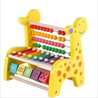 Chinese Abacus Wooden Montessori Toys Montessori Math Sensory Toy Wooden Education Toy With Eight tone Piano