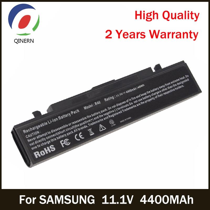 все цены на QINERN 11.1V 4400MAh SA-R40 notebook Battery For SAMSUNG Laptop For SAMSUNG AA-PB2NC3B,AA-PB2NC6B NP Series Business Battery онлайн