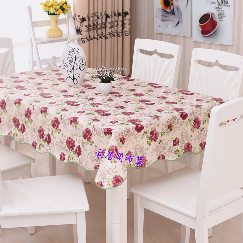 Waterproof Oilproof Wipe Clean Pvc Vinyl Tablecloth Dining Kitchen Table Cover Protector Oilcloth Fabric Covering In Tablecloths From Home Garden On