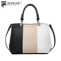 2018 new ZOOLER woman leather handbag genuine leather bag luxury women bags designer patchwork shoulder bag bolsa feminina L 116