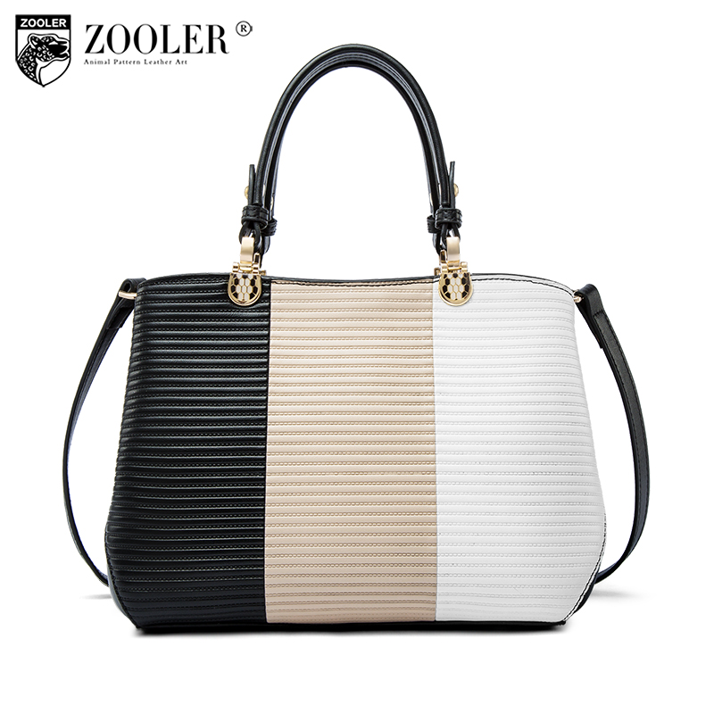 2018 new ZOOLER woman leather handbag genuine leather bag luxury women bags designer patchwork shoulder bag bolsa feminina L-116 zooler 2018 luxury genuine leather bag for woman chain shoulder bag designer woman fashion cross body bags bolsa feminina bc100