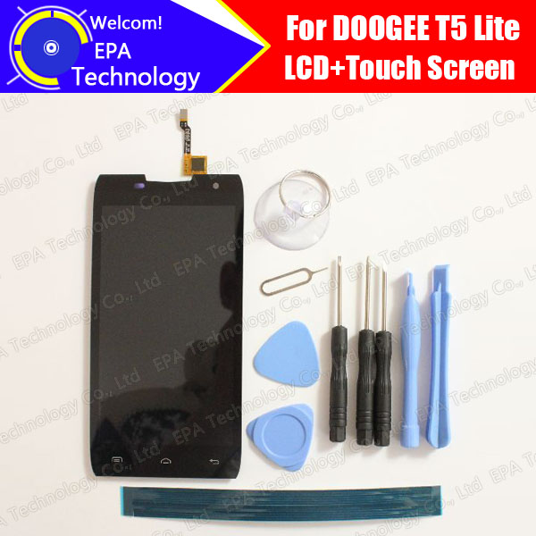 ФОТО DOOGEE T5 Lite LCD Display+Touch Screen 100% Original New Tested Digitizer Glass Panel Replacement For T5 Lite +Tools