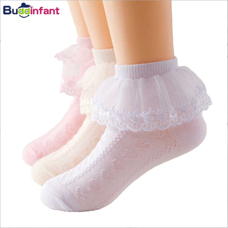 3c6bcc18a 5pairs lot Girls Lace Socks Children Kids Mesh Thin Baby Princess Ankle  Sock White Pink