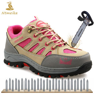 cc612ddf5f98 Ntmeika Big Size Leather Toe Lace up Pink Boots Shoes Women