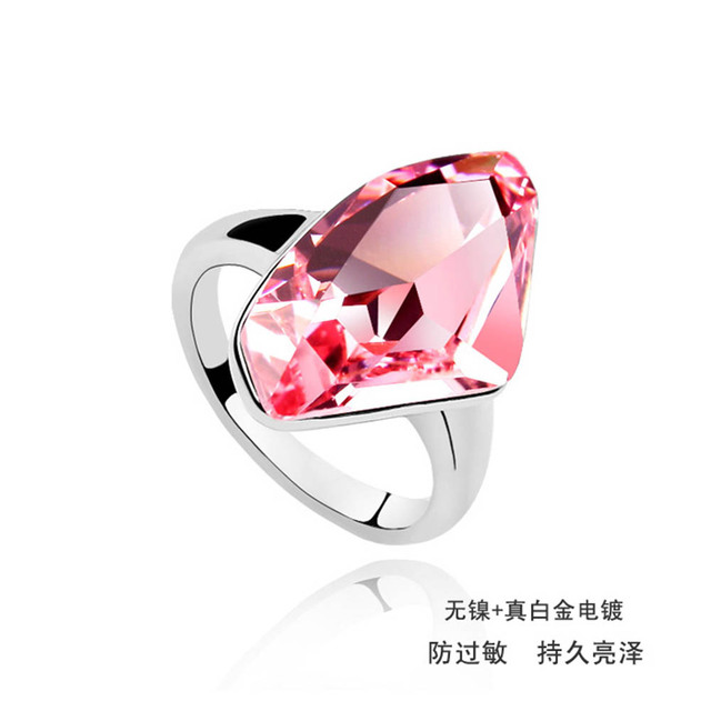 d9f537d2fbc57 US $7.42 |Super hot sale 3 colors big crystal ring wedding jewelry With  Crystals from SWAROVSKI good for Christmas gift-in Rings from Jewelry & ...