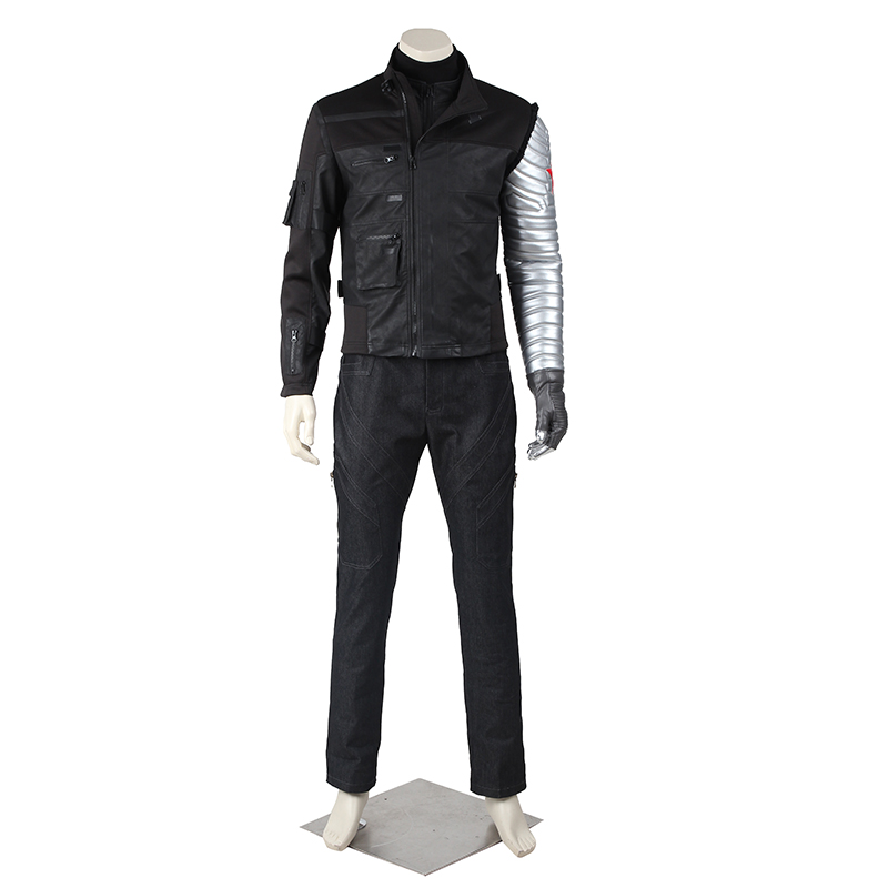 Bucky Barnes Costume Captain Cosplay America 2 Winter Soldier James Buchanan Outfit Superhero Halloween Party Custom Made Adult