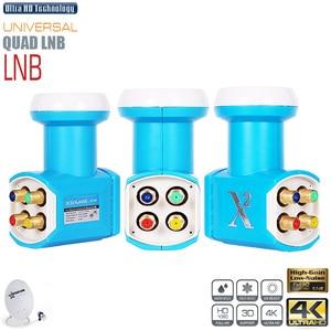 Image 1 - X2 Universal LNB Für Satellite TV Receiver Quad LNB Hight Verstärkung Geräuscharm KU BNAD LNBF Dish TV Tuner