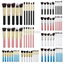 MINI 10pcs/set Maquiagem Makeup Brushes Beauty Cosmetics High Quality Foundation Blending Blush Make up Brush Tool Kit Set